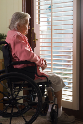 Elder Woman in Wheelchair